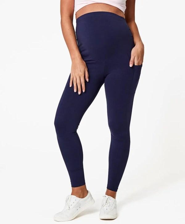 Women's Midnight Navy Maternity Pocket Legging XL