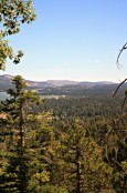 view from castle rock- big bear lake