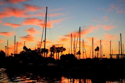 Sunrise at docks