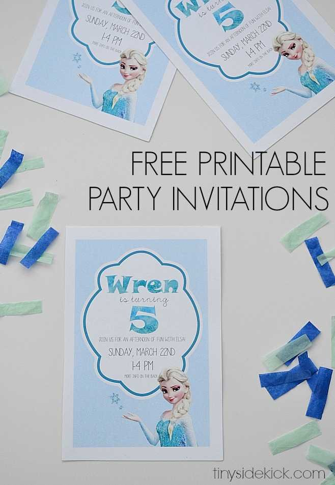 free printable frozen birthday party