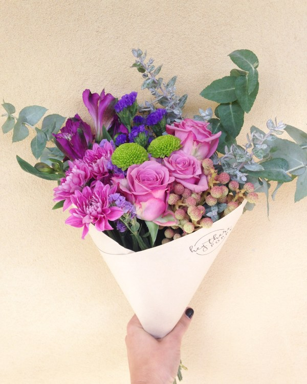 Fresh Flower Daily Posy Purple