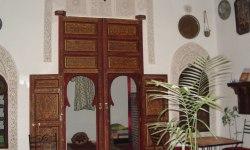 Inner courtyard of a riad in Fez