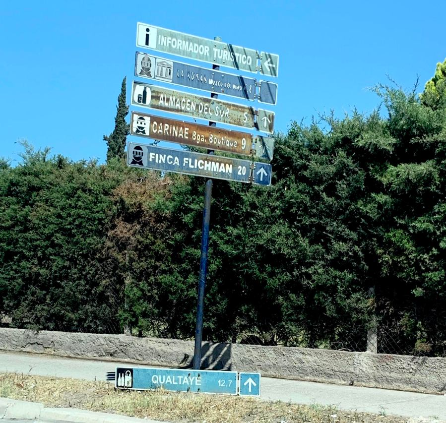 Signage leading into Maipu region of Mendoza