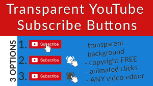 Transparent YouTube Subscribe and Bell Animation Pack