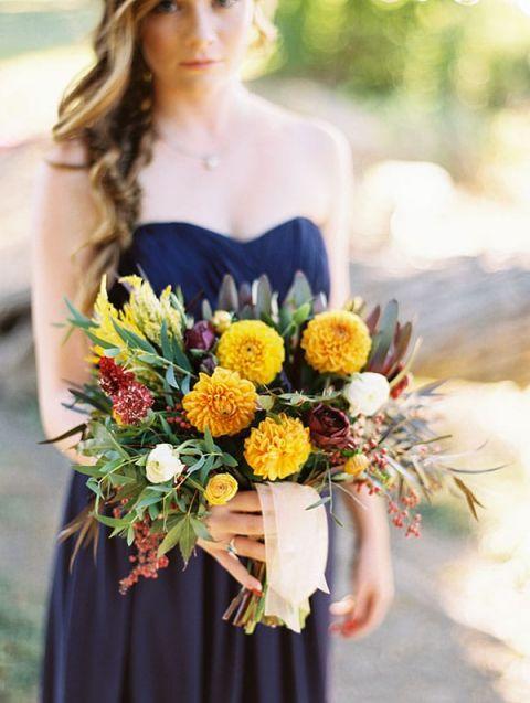 Bridesmaid Wedding Dresses Fall Colors