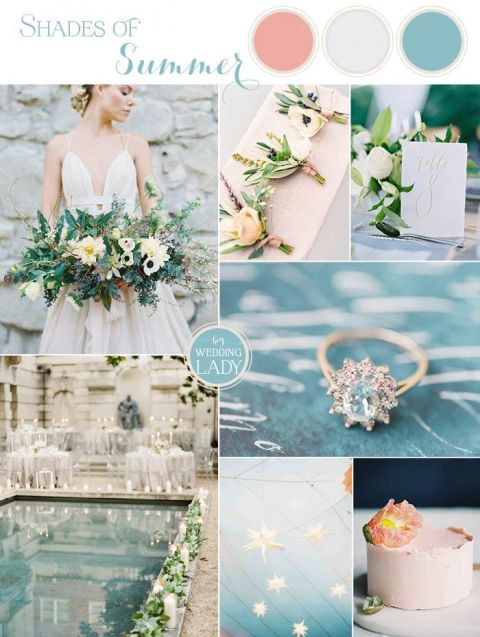 Turquoise Summer Wedding Ideas With Pops Of Peach Hey