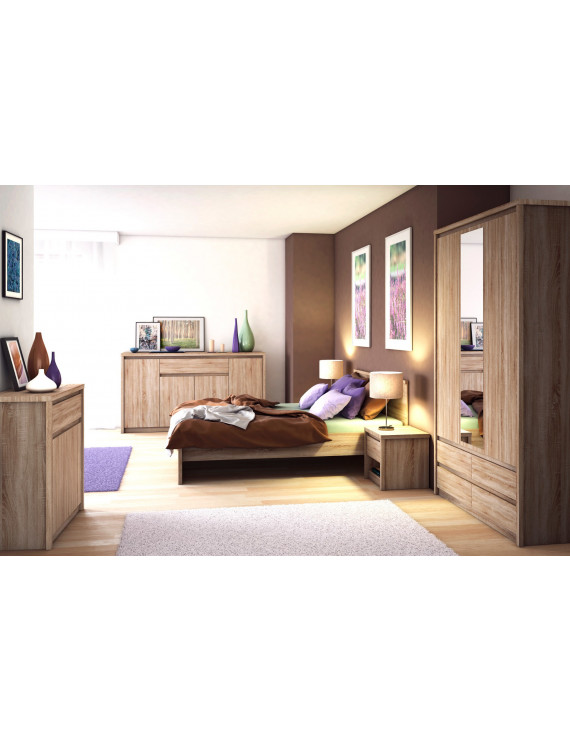 bedroom set bed large wardrobe with mirror 2x night stands free delivery norton