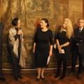 La dott.ssa Laura Carlini Fanfogna, direttrice dei musei civici di Trieste, durante il suo discorso all'inaugurazione della mostra.