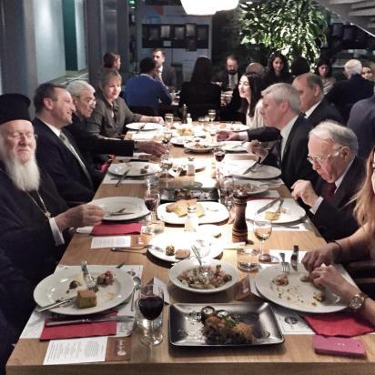 Food for Diplomacy 2015, Kadir Has. The guests enjoying the dinner.
