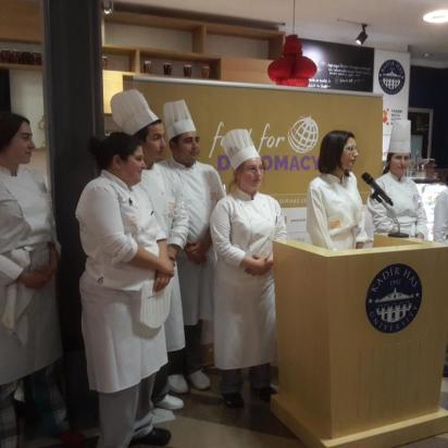 Food for Diplomacy 2015, Kadir Has. Chef Katerina Xekalou and her crew.