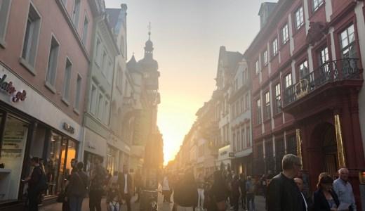 ドイツ・ハイデルベルクの街並み