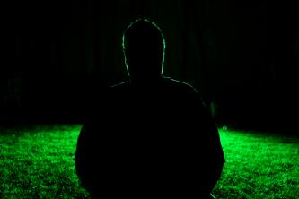 Silhouette of me taken by Fran Lane