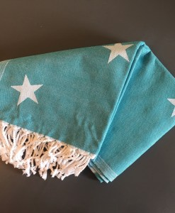 Star_Turkish_Towel_Cyan_HforHammam_Jacquard