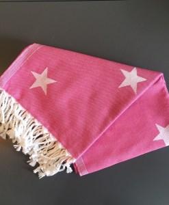 Stars_Turkish_Towel_Fuchsia_HforHammam_Jacquard