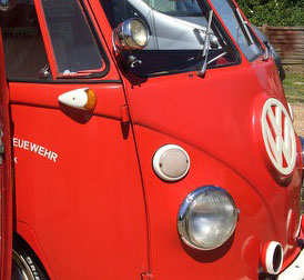vw vintage fire engine