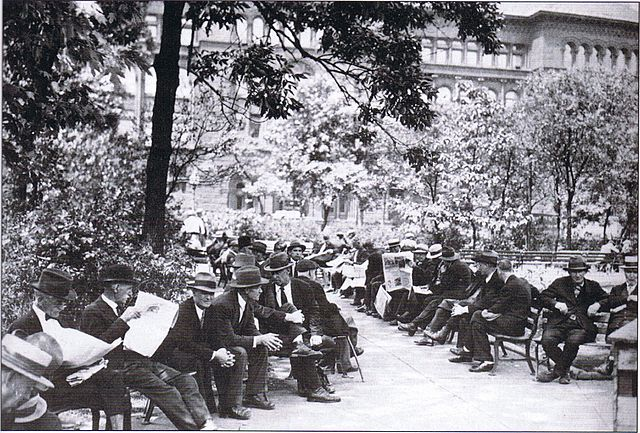 Bughouse Square in the old days (source: Wikimedia)