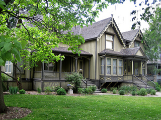Copies of Henry George's books are in the library of this house (photo credit: Teemu via flickr(cc)