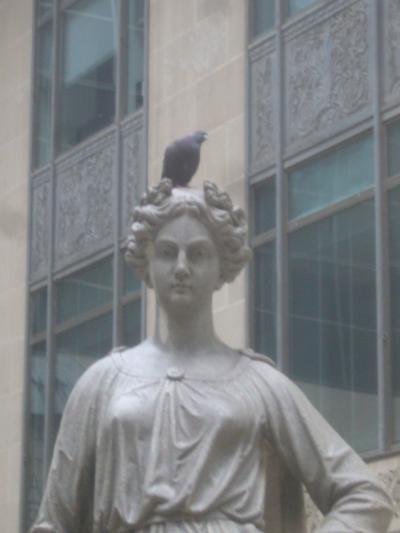 Stolen Statue Repossessed/Henry George School photo