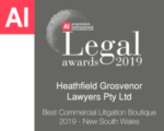 Best Commercial Litigation Boutique NSW 2019