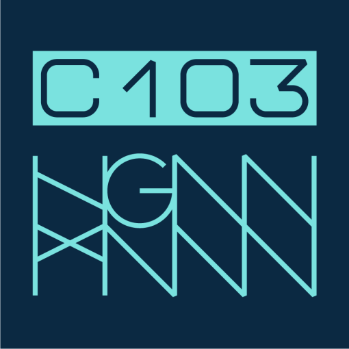 C103: ELECTRO QUILT detail navy