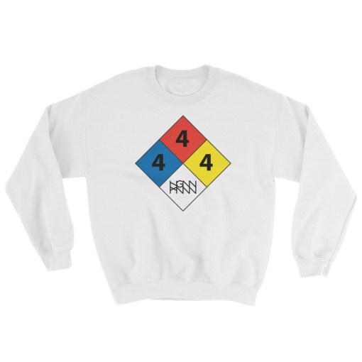 C291: HAZARDOUS MATERIAL (SWEATSHIRT) white