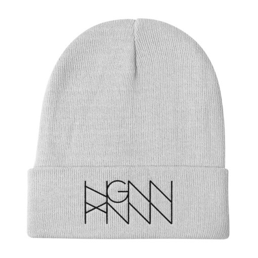 H024: DARK KNIT (BEANIE) white