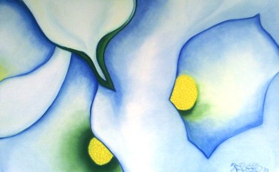 Pickin' Lilies : Pastel on Paper