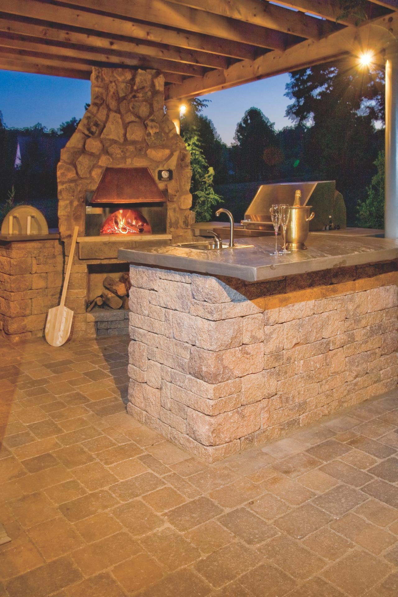 Outdoor Pizza Oven Fireplace Options and Ideas | HGTV on Outdoor Kitchen And Fireplace Ideas id=63221