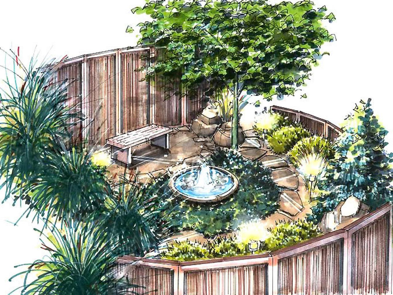 A Meditation Garden Plan | HGTV on Backyard Layout Planner id=55905