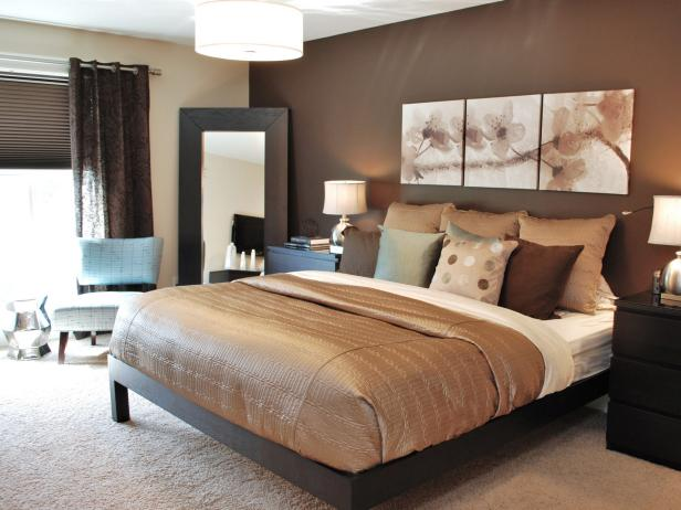 Modern Bedroom Color Schemes  Pictures  Options   Ideas   HGTV DP Balis chocolate brown master bedroom 4x3