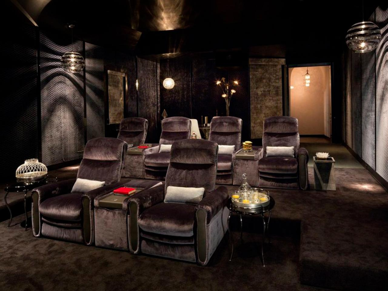Home Theater Decor: Pictures, Options, Tips & Ideas