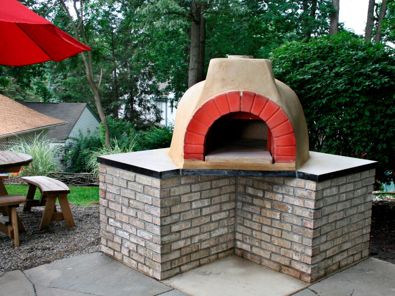 How to Build an Outdoor Pizza Oven | HGTV on Outdoor Patio With Pizza Oven  id=70374