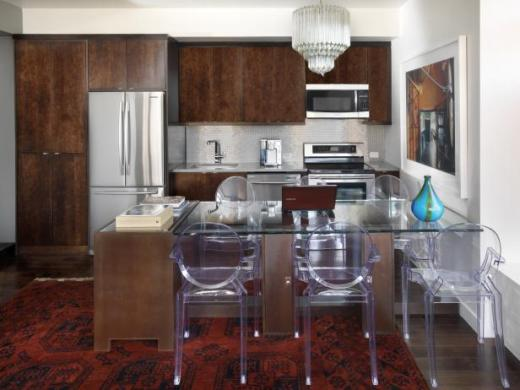 Small Kitchen Rugs  Pictures  Ideas   Tips From HGTV   HGTV Urban10 Kitchen 43 table chairs appliances EPP Kitchen 9 FINAL
