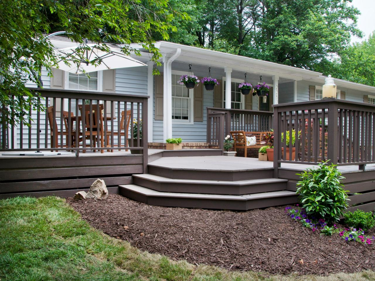 Maximum Home Value Outdoor Living Projects: Deck | HGTV on Back Deck Ideas For Ranch Style Homes  id=65708