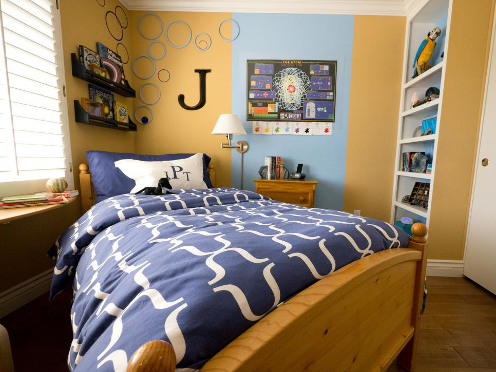 Small Boy's Room With Big Storage Needs | HGTV on Small Bedroom Ideas For Teenage Guys  id=35106