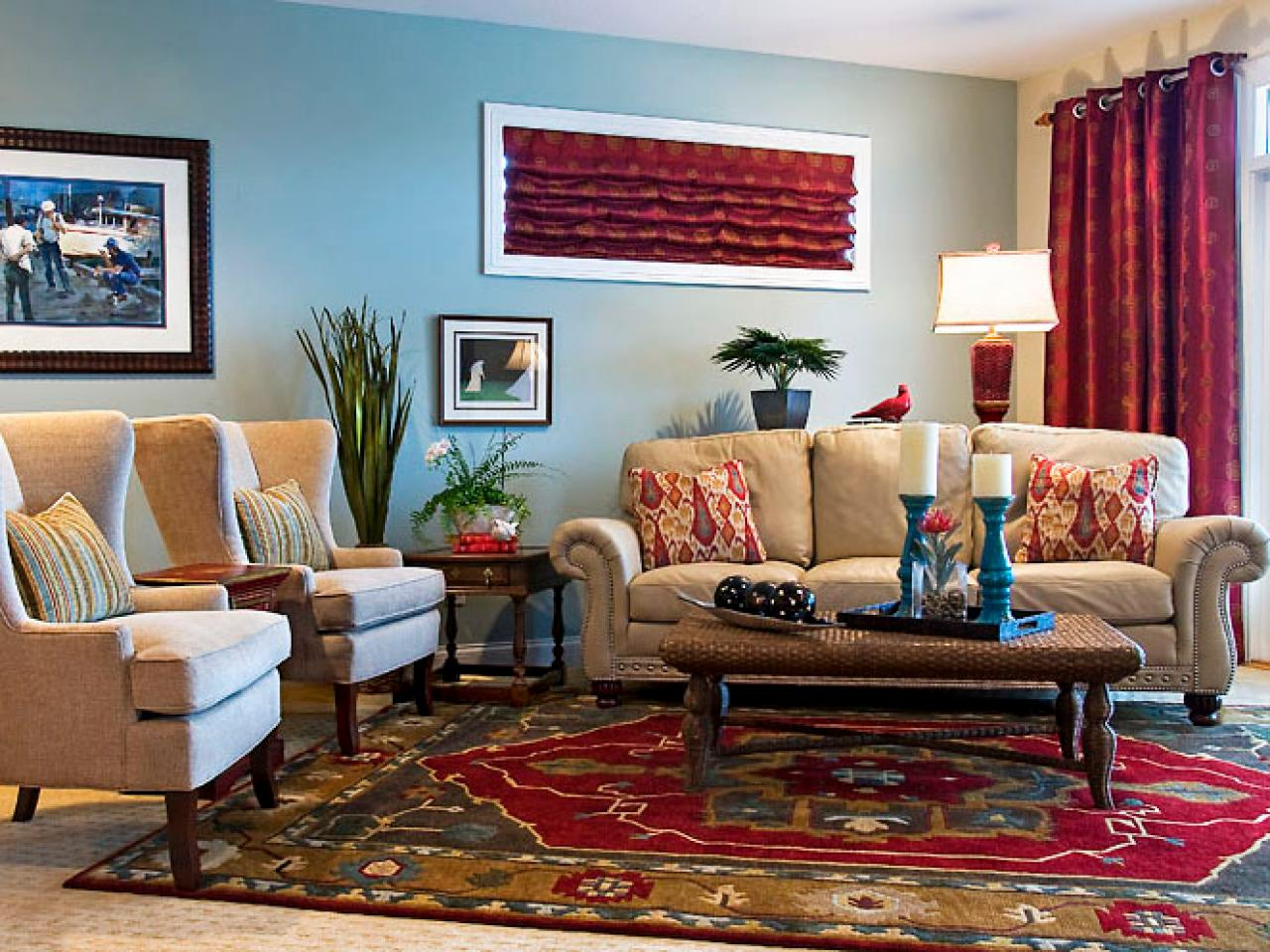 Casual Family Living Room Sandy Kozar Hgtv Part 43
