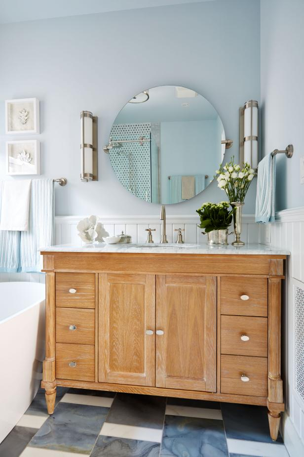 Modern Coastal-Themed Bathroom From Sarah Sees Potential
