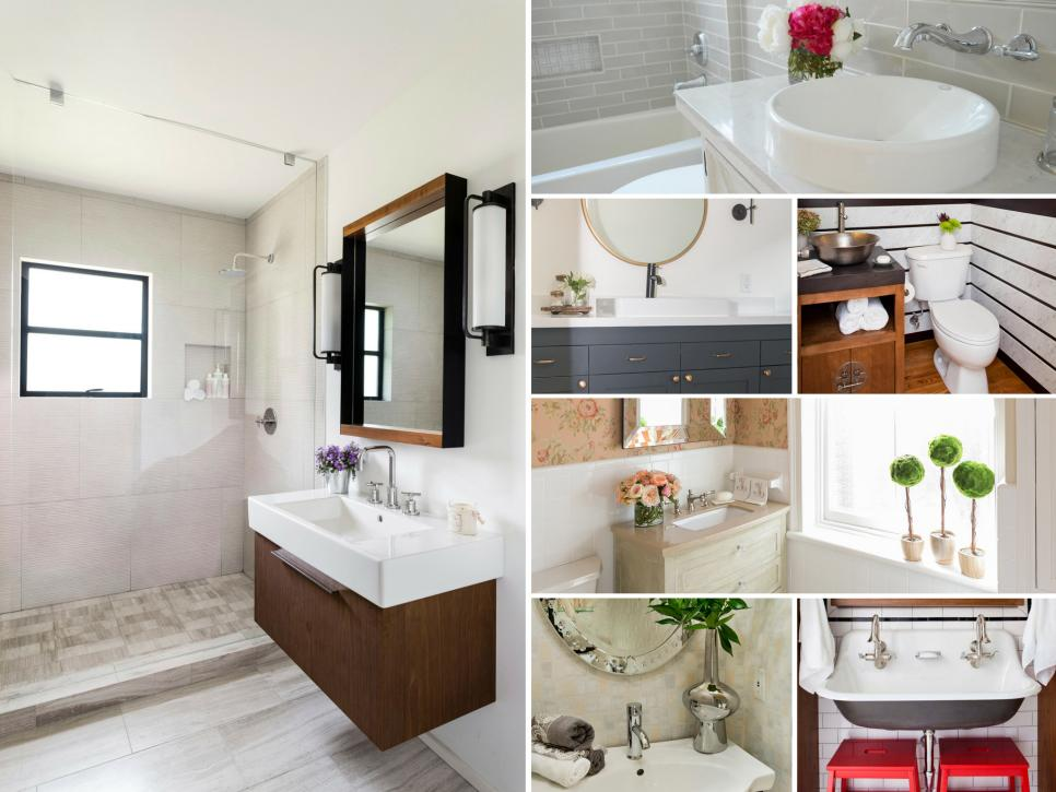 Before and After Bathroom Remodels on a Budget   HGTV Shop This Look