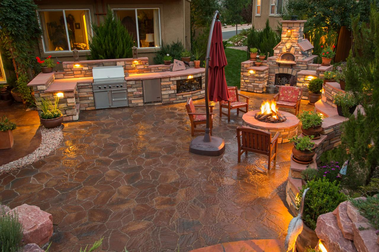 12 Gorgeous Outdoor Kitchens | HGTV's Decorating & Design ... on Outdoor Kitchen And Fireplace Ideas id=95396