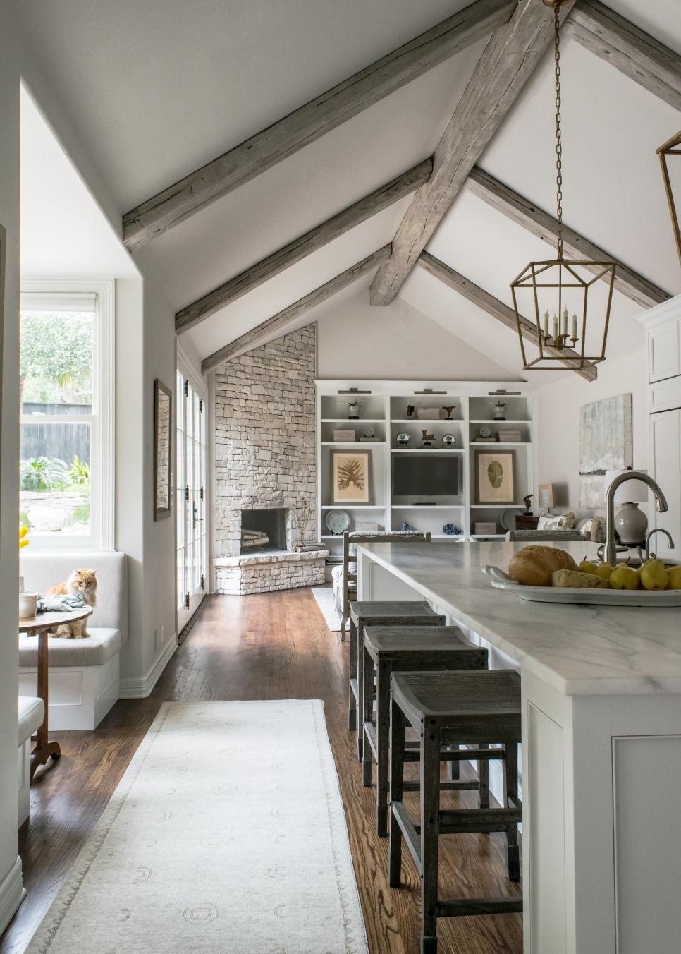 White Contemporary Kitchen With Vaulted Ceilings HGTV Faces Of Design HGTV