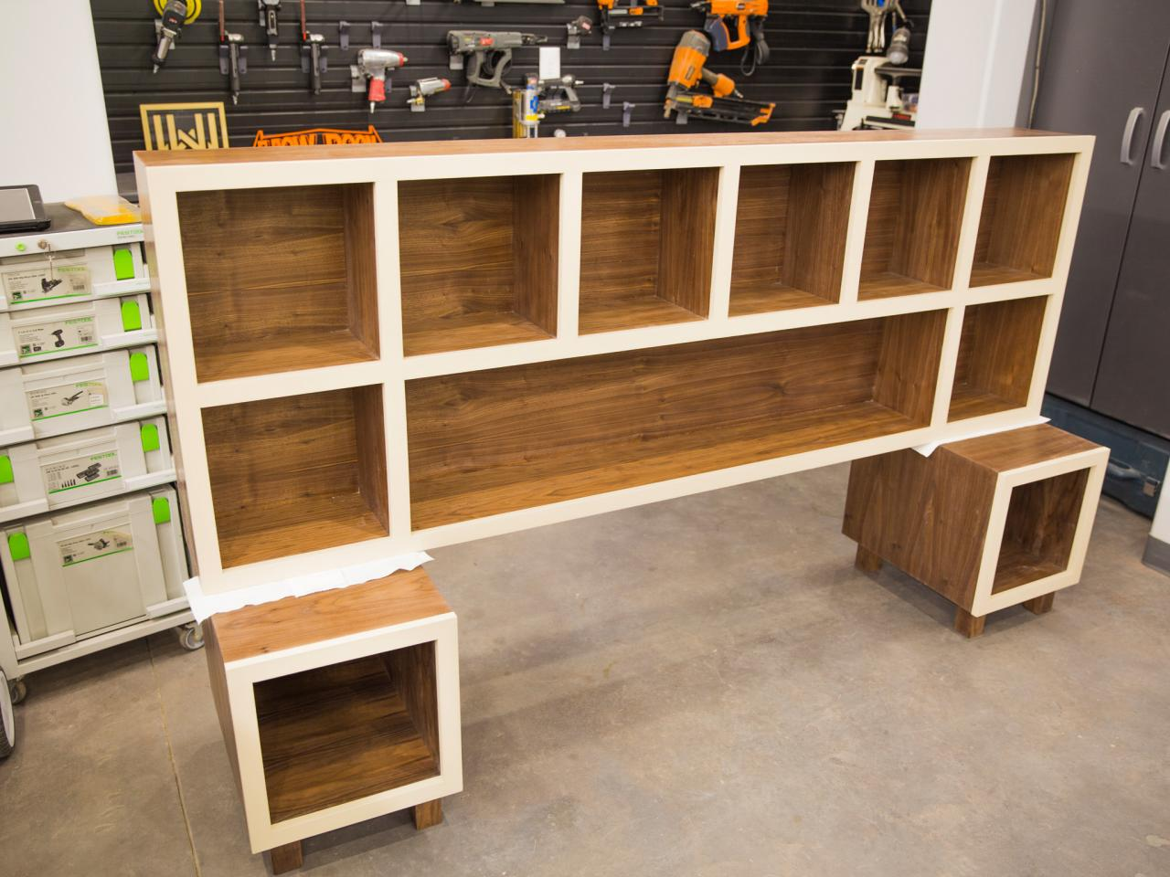 How to Make a Headboard With Storage   HGTV Assemble Headboard