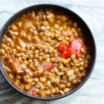 Homemade easy lentil soup recipe! This healthy lentil recipe is gluten-free, vegan and very few ingredients are needed! A great vegan weeknight dinner for a cold day!