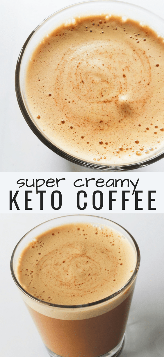 Super creamy keto coffee recipe with coconut oil and almond butter! Not really bulletproof coffee, but this delicious keto drink is even better than latte or cappuccino!