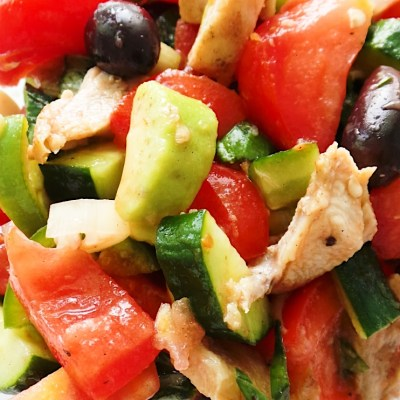 Tomato Avocado Chicken Salad With Basil – Low-Carb Recipe