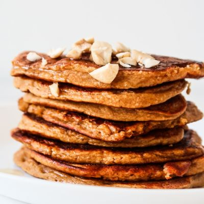Healthy Pumpkin Oat Pancakes Recipe (Flourless, GF)