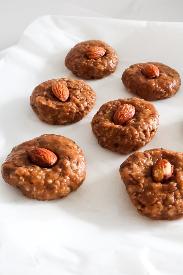 Healthy No-Bake Peanut Butter Cookies