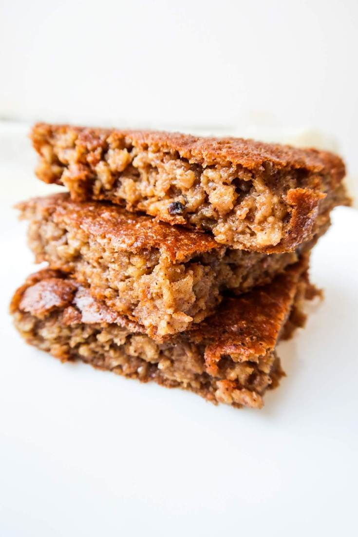 This healthy breakfast oatmeal apple cake is a tasty and easy meal prep recipe that you can make for the entire week. It's also great for dessert and is kid-friendly. This healthy breakfast oat apple cake is a tasty and easy meal prep breakfast recipe that you can make for the entire week. It's also great for dessert and is kid-friendly. This recipe is something between baked oatmeal and an actual breakfast cake as it's flourless (we use oatmeal for flour) and refined sugar-free (use honey and the sweetness of apples).