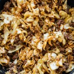 beef and cabbage - high protein low carb meals