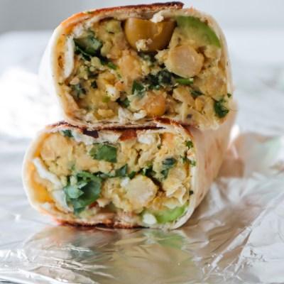 Vegan Avocado Chickpea Wraps