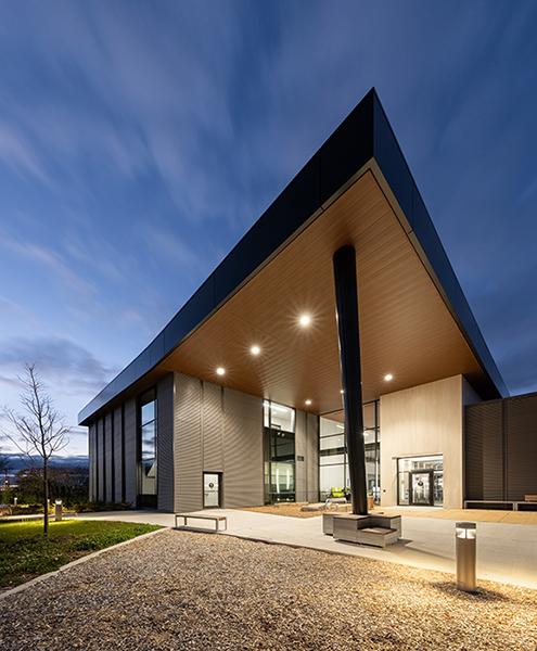 Exterior photo of the Rizzardo Health & Wellness Centre